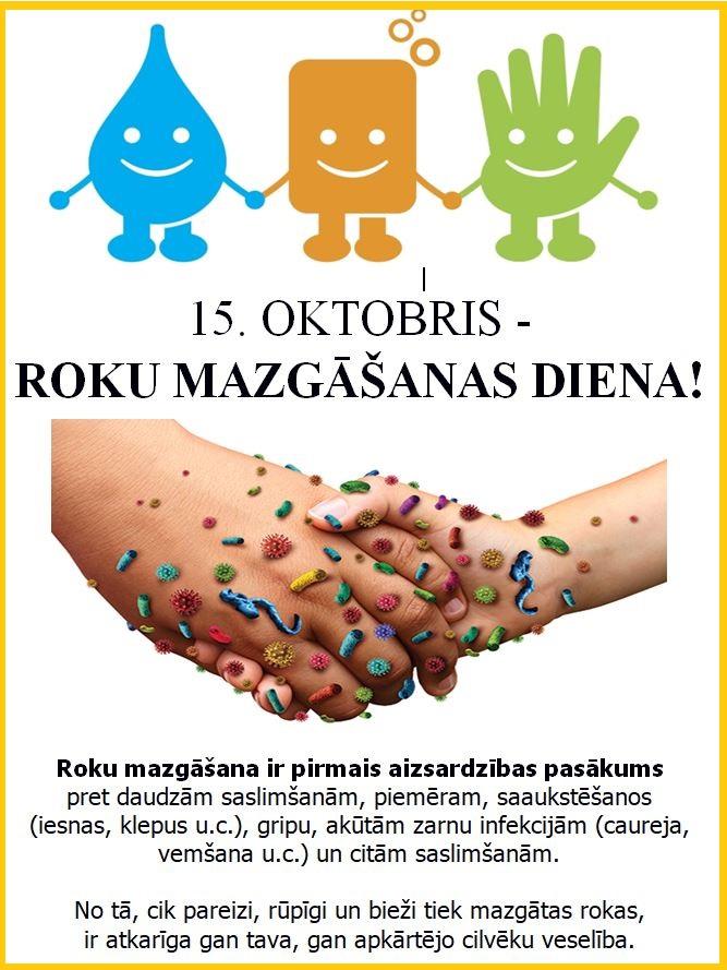 Mazgā rokas tīras, lai no mikrobiem tās brīvas